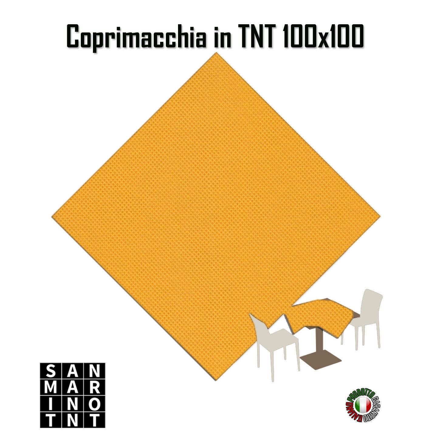 Coprimacchia-monouso-tnt-100x100-giallo tovaglioli monouso Tovaglioli monouso – motivo maiolike Coprimacchia monouso tnt 100x100 giallo ocra
