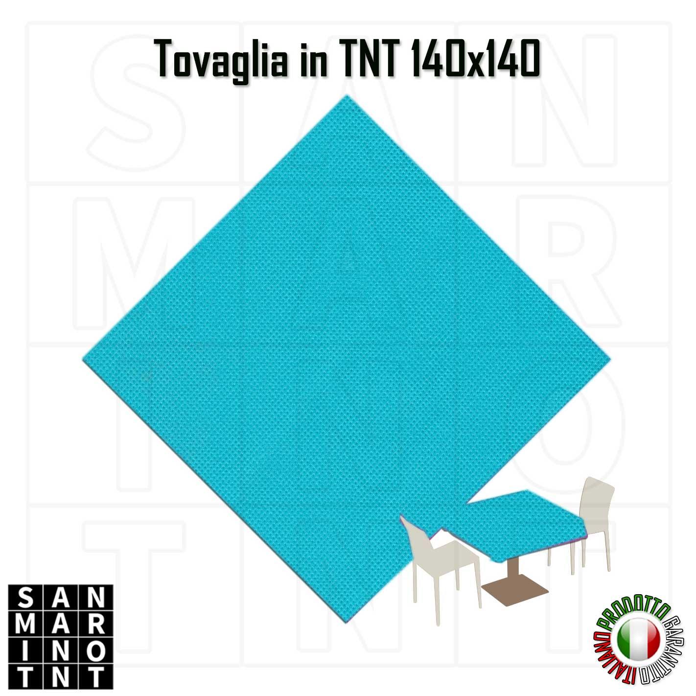 Tovaglia 140x140 in tnt colore Blu Tiffany tovaglioli monouso Tovaglioli monouso – motivo maiolike Tovaglia monouso in tnt 140x140 blu tiffany