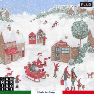 tovaglie monouso natalizie collezione wonderland